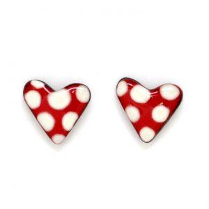Corazón lunares botón